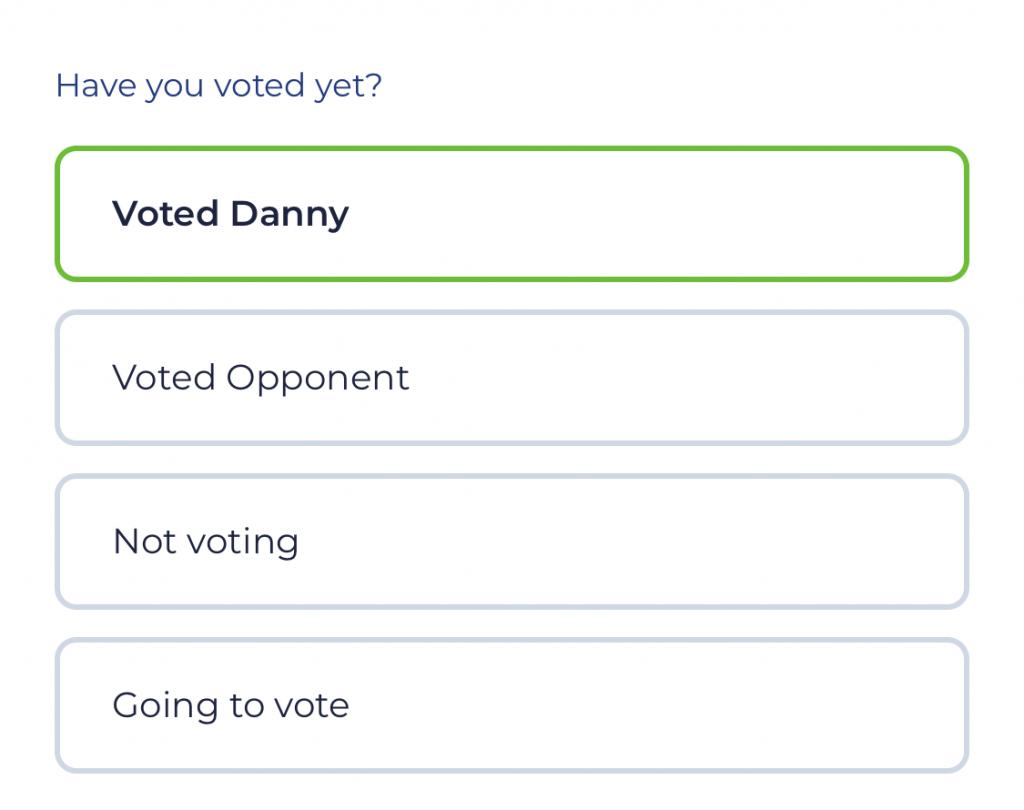 Single Choice Question Screenshot