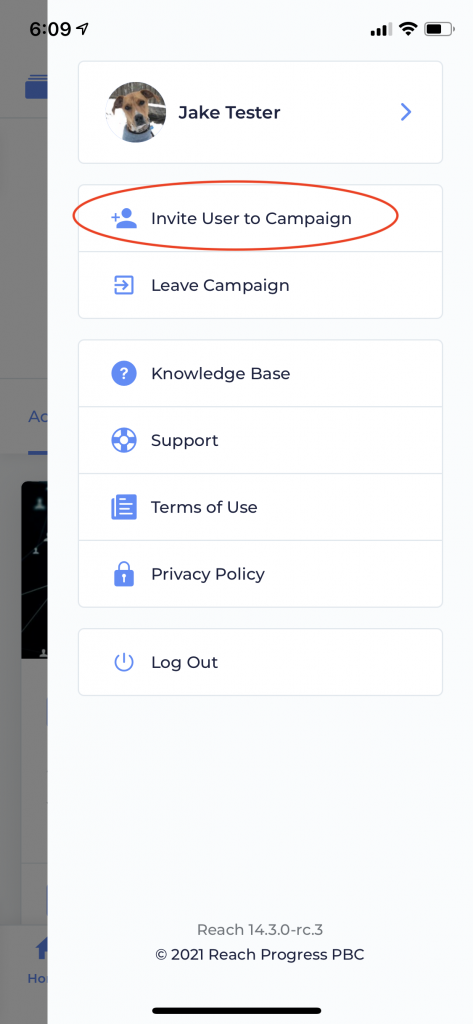 Invite User from User Drawer