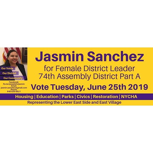 Jasmin Sanchez for District Leader
